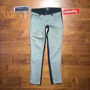 TRIPP NYC ROYAL BONES Designer Color Split Jeans